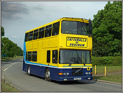 R308 LHK, Leamington Way (Jason 87030) Tags: school special run daventry northants northamptonshire southam catteralls leamingtonway yellow blue volvo olympian alexander eire exdublinbus r308lhk cat dav may 2018 sony ilce