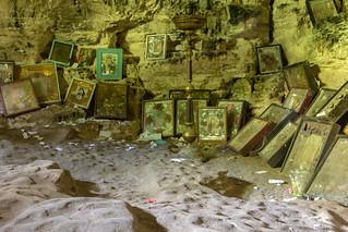 Cave chapel at Mănăstirea Saharna