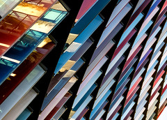 In Prism (DobingDesign) Tags: colours cladding panels londonarchitecture modernarchitecture color colourful lines pattern repeatingpattern detail reflections city curves