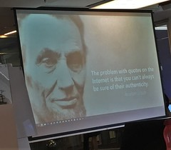 Abraham Lincoln knew it (roomman) Tags: 2018 warsaw poland presentation quote from teh internet quotes abraham lincoln nice juergen kohnen training session empower point empowerpoint ppt powerpoint slide slides office mordor wisdom sentence truth fakenews news new fake information