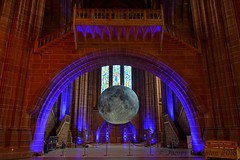 Moon of the Museum Installation (James O'Hanlon) Tags: moon anglicancathedral anglican cathedral luke jerram lukejerram museum museumofthemoon