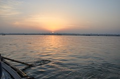Spirtitual Places - India- The Ganges River  (3) (The Spirit of the World ( On and Off)) Tags: river gangesriver sacred holy sun sunrise light morning ripples water waterscape india varinasi spiritual magical asia