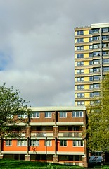 Flats of colour (DavidSteele31) Tags: sheffield flats colour yellow orange buildings architecture southyorkshire