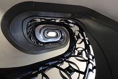Round stair (Elbmaedchen) Tags: staircase stairwell stairs stufen treppenhaus treppenaufgang upstairs roundandround belvedere berlin charlottenburg steps wooden geländer westend schloss