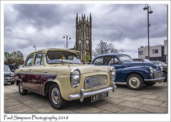 Ford Popular (Paul Simpson Photography) Tags: ford fordpopular 1962 classiccars scunthorpe carshow transportshow twotone paulsimpsonphotography sonya77 wideangle motorshow oldcars static forduk england april2018 church stjohns