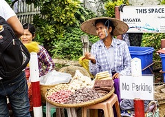 No parking (Nebelkuss) Tags: myanmar bagán asia birmania burma bupaya callejeras street tanakha fruta fruit fujixt1 fujinonxf1855