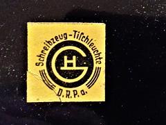 Logo Schreibzeug Tischleuchte Christian Dell (jooken holznotruf.de) Tags: antique bauhaus classic design document deutschemoderne electrical formgestaltung germany interior industry knowledge lighting modern original quality technic u v w christiandell typo