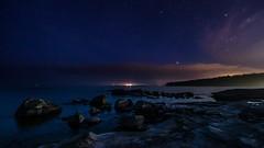 Boön och Sirius (tonyguest) Tags: boön karlshamn blekinge sverige sweden stars sirius orion water sea rocks nightshot tonyguest stockholm