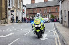 Police and race control (barronr) Tags: england knaresborough rkabworks tourdeyorkshire yorkshire bathgatephotographer cycling motorbike police race support