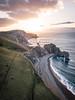 Jurassic Coast (Fabian Fortmann) Tags: cornwall england durdle door drone dji mavic sunrise coast sea water küste meer sonnenaufgang drohne