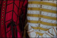 Details of Gentlemen`s Doublet & Hose 1645 (Eline Lyng) Tags: kentwellhall longmelford suffolk england greatbritain gentlemen dress gentlemendoublet clothes fashion medieval leica s 007 leicas summarits70mm 70mm leicalens mediumformat