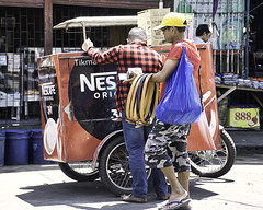 Belts (Beegee49) Tags: street vendor belts nescafe delivery bacolod city philippines
