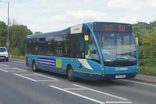 Variety: Arriva Harlow Optare Versa KX13DHG (4237) Stansted Road Stansted Mountfitchet 09/05/18