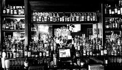Little Whiskey Bar (MassiveKontent) Tags: bar whiskey brooklyn bushwick littlewhiskeybar nyc newyorkcity bw contrast city monochrome urban blackandwhite bottles bwphotography background pub drink glass beer alcohol hipster refreshment beverage liquid retro shot classic oldschool