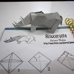 """127/365: """"Rinoceronte"""" by Jaime Niño (mehjg) Tags: origami morigami rinocerous rinoceronte 365origamichallenge"""