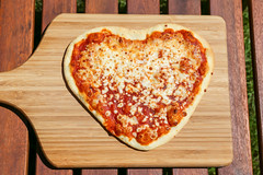 I love Pizza (wuestenigel) Tags: food pizza love foodporn heart noperson keineperson lebensmittel dough teig cheese käse lunch mittagessen delicious köstlich dinner abendessen rustic rustikal wood holz crust kruste pepperoni peperoni refreshment erfrischung mozzarella homemade hausgemacht fast schnell table tabelle baking backen meal mahlzeit slice scheibe