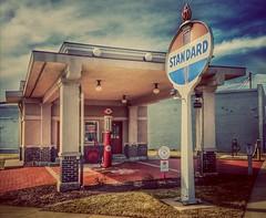 setting a new standard.... (BillsExplorations) Tags: standard fillingstation gasstation visitorscenter rochelle illinois sign vintage old redcrown gaspump historic restored