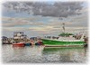 Greencastle, Co. Donegal. (willieguildea) Tags: greencastle donegal ireland ulster harbour port quey boats fishinhboats trawlers ships vessels water waterscape sky clouds nikon