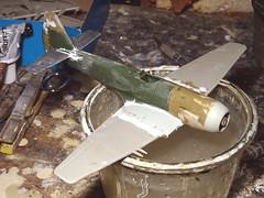 "1:72 Hawker Cyclone FR.2; aircraft ""HB 253/G"" of the Royal Indian Air Force No. 1 Squadron ""Tigers""; AFS Gwalior, Madhya Pradesh, 1949 (Whif/kitbashing) - WiP (dizzyfugu) Tags: 172 hawker cyclone typhoon tempest royal indian air force india 1949 kashmir tiger gwalior madhya pradesh reconnaissance camera fighter fr dark green ocean grey medium sea saffron chakra wheel modellbau kitbashing model kit conversion dizzyfugu fictional aviation"