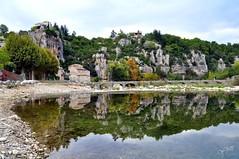 Labeaume  (Ardèche) (Nathery Reflets) Tags: ardèche rivière eau reflets automne village cevennes labeaume