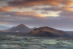 Volcanic ... (Mike Ridley.) Tags: volcano volcanic volcanelcuervo lanzarote sunset sonya7r2 sony2470fegm mikeridley nature sky landscape