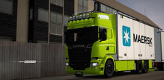 Scania R730 Tandem - Crown Edition WiP [ETS2] (gripshotz) Tags: scania r730 crown edition tandem ntm maersk euro truck simulator ets 2 skin