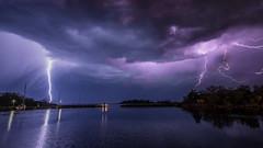 Lightning seen from Karlshamns fiskehamn (tonyguest) Tags: blixt blixten fiskehamn karlshamn blekinge sverige sweden harbour lightning strike sea clouds tonyguest stockholm