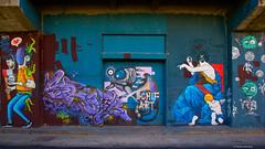 IMGP9755 Painting the walls (Claudio e Lucia Images around the world) Tags: murales graffiti streetart milano vialemonza ferrovia via pontano milanese pentax pentaxk3ii sigma sigma1020 pittura face faccia murale art viapadova padova