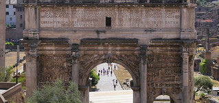 The Arch led into the central opening of the Forum Romanum