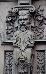 Rouen - Maison Marrou - Visage (Philippe Aubry) Tags: normandie seinemaritime valléedelaseine rouen maisonmarrou maisondelarchitectureetdupatrimoine ferdinandmarrou ferronnerie ferronnier visage atlante