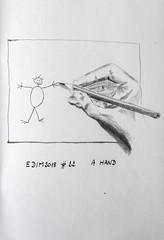 Edim2018 #22 A Hand (chando*) Tags: crayon croquis edim2018 hand main pencil sketch