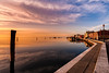 Romantic sunset on the Venice lagoon. Island of Pellestrina. (franco nadalin) Tags: italy pellestrina background bay blue europe fishing holiday huts island lagoon landscape lido located nature outdoor reflection sea shore sky summer sunset tourism tourist town travel vacation venice village water