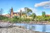 Otra visión del río Tormes a su paso por Salamanca (mibagui22) Tags: salamanca rotura pesquera río tormes catedral