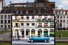 La Havane - Lille : trompe l'œil (Guillaume DELEBARRE) Tags: lahavane cuba lille france canon tamron2470f28 architecture 5dmarkiv car colors trompeloeil photoinaphoto guillaumedelebarre
