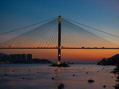 Sunset (Johnson_Tsang) Tags: sunset hongkong landscape tingkaubridge