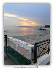floisvos palaio faliro (Love me tender ♪¸.•*´¨´¨*•.♪¸.•*´) Tags: dimitrakirgiannaki photography 2018 sunset spring colors sky seascape sea landscape romantic frame greece greek attica palaiofaliro floisvos