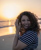 My wife enjoying the sunset (francisXL23) Tags: canon eos rebel t7i 800d sigma 30mm art lens f14 sunset portrait photo photography tones cute smile gorgeous beautiful latina santa barbara california beach