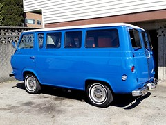 Ford Falcon Club Wagon (circa mid-1960s) (SqueakyMarmot) Tags: vancouver suburb burnaby kitchenerstreet ford falcon vintage van