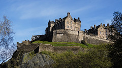 Edinburgh Castle (p.mathias) Tags: castle fort fortification fortress edinburgh history bluesky spring uk unitedkingdom historical historic afternoon scotland skyline royal garrison military barracks sony a5100 europe