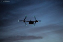 Into the blue (Ian Garfield - thanks for almost 2 million views!) Tags: cv22 v22 osprey usaf unitedstatesairforce united states air force mildenhall raf royal green blue rotor tip twilight aircraft american helicopter bell boeing