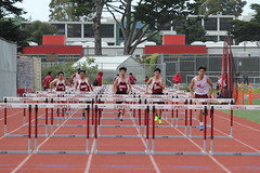 IMG_8290 (susanw210) Tags: track running trackandfield teamwork atheletes students highschool team jumping hurdles lowell cardinals highschoolsports