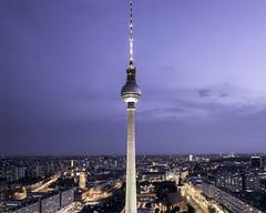Blue Hour Berlin (parkerbernd) Tags: berlin fernsehturm blue hour skyline city lights tower alexanderplatz germany