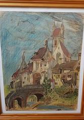 Ou est cet village? region Parisienne probablement. Peint circa 1954. (JP at 64°North) Tags: france villages paysages architecture villagesdefrance juvisy orge
