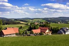 Bavarian Countryside (tomas.jezek) Tags: countryside bavaria village vista view viewpoint field sky forest hills green lifestyle germany