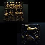 2 - Paris, Musée du Quai Branly - Carreaux illustrant un passage du Livre des Merveilles de Qazwini, Iran, 19ème siècle - Céramique silicieuse, décor moulé peint sous glaçure thumbnail