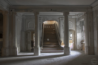 Abandoned Baroque Style Castle, Built 1779, East Germany