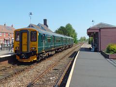 150221 Crediton (10) (Marky7890) Tags: gwr 150221 class150 sprinter 2f31 crediton railway devon tarkaline train