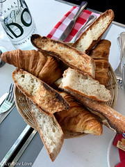 Parisian Baguettes & Croissants (Lyubov Love) Tags: paris parisian baguette baguettes croissant croissants breakfast lunch dinner food bread butter beurre delicious bake baked pastry france french