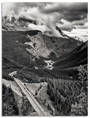Highway 93 - Icefields parkway (.Wadders) Tags: icefieldsparkway alberta canadianrockies canada d600 ngc bw landscape mountains