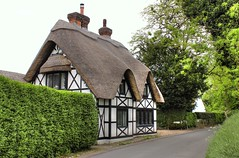 A Quiet Country Lane (clivea2z) Tags: unitedkingdom greatbritain england berkshire reading sulham cottage thatchedcottage thatchedroof thatch